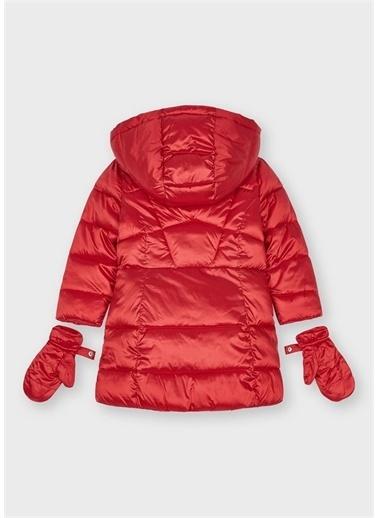 Mayoral Mayoral Kız Çocuk Sıcak Astarlı Uzun Boy Kışlık Mont Kırmızı
